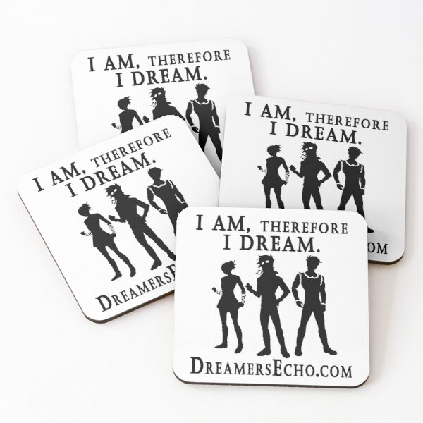 """""""I am, therefore, I DREAM."""" Shadow Coasters (Set of 4)"""