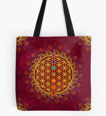 FLOWER OF LIFE, CHAKRAS, SPIRITUALITY, YOGA, ZEN,  Tote Bag
