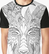 Boho wolf indian totem head Graphic T-Shirt