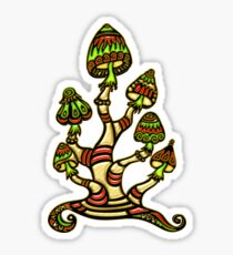 Magic mushrooms, Plants of the Gods, psychedelic, Trance Goa Psy  Sticker