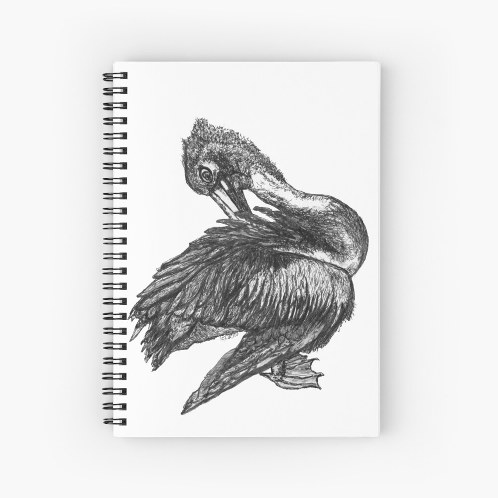 Percephone the Pelican Spiral Notebook