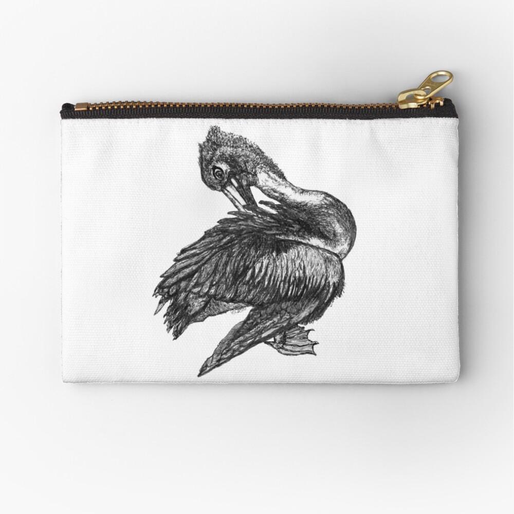 Percephone the Pelican Zipper Pouch