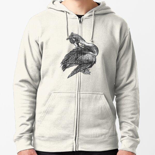 Percephone the Pelican Zipped Hoodie