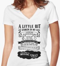 TVD Song Women's Fitted V-Neck T-Shirt