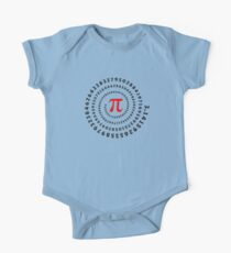 Pi, π, spiral, Science, Mathematics, Math, Irrational Number, Sequence Short Sleeve Baby One-Piece
