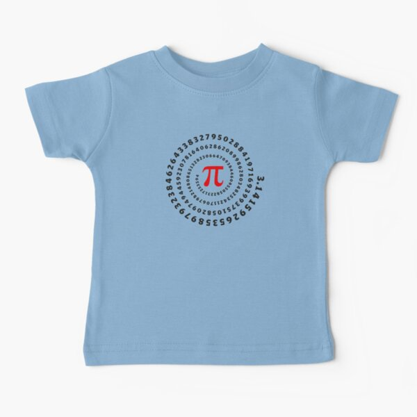 Pi, π, spiral, Science, Mathematics, Math, Irrational Number, Sequence Baby T-Shirt