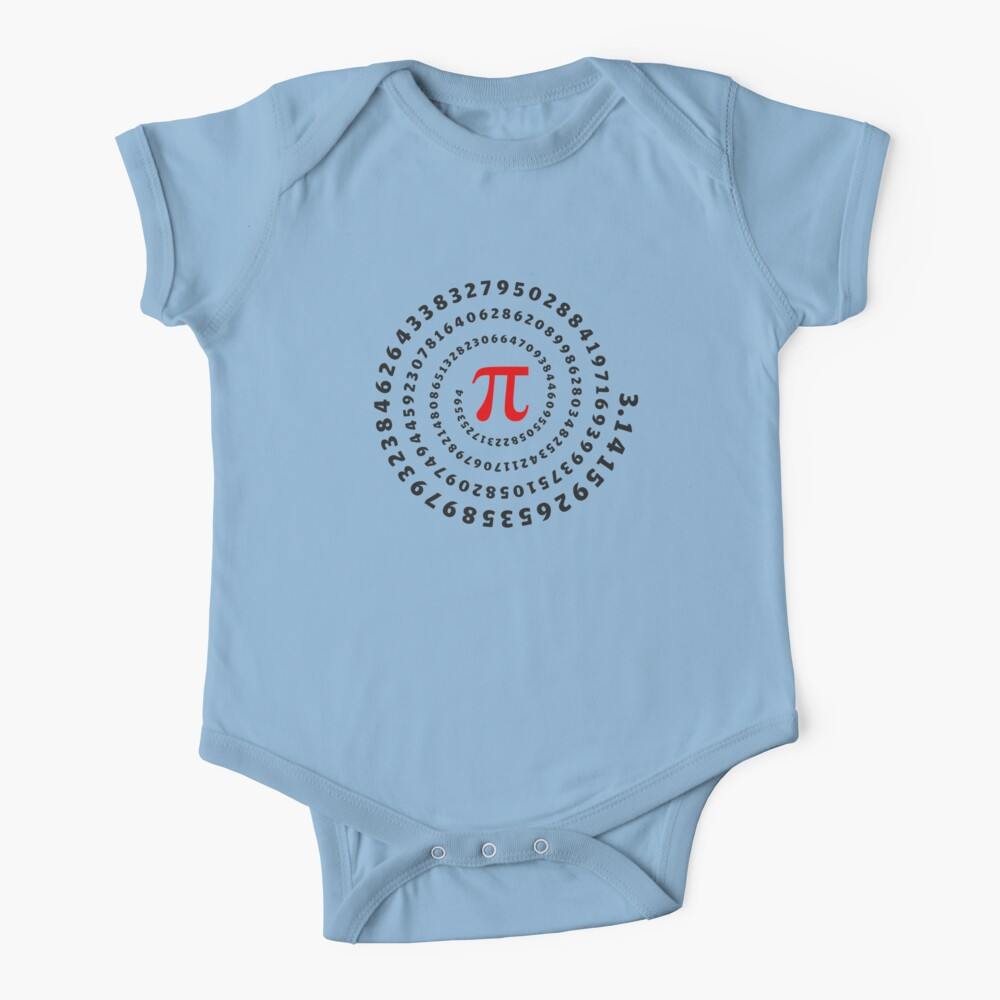 Pi, π, spiral, Science, Mathematics, Math, Irrational Number, Sequence Baby One-Piece