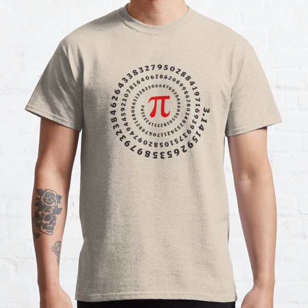 Pi, π, spiral, Science, Mathematics, Math, Irrational Number, Sequence Classic T-Shirt