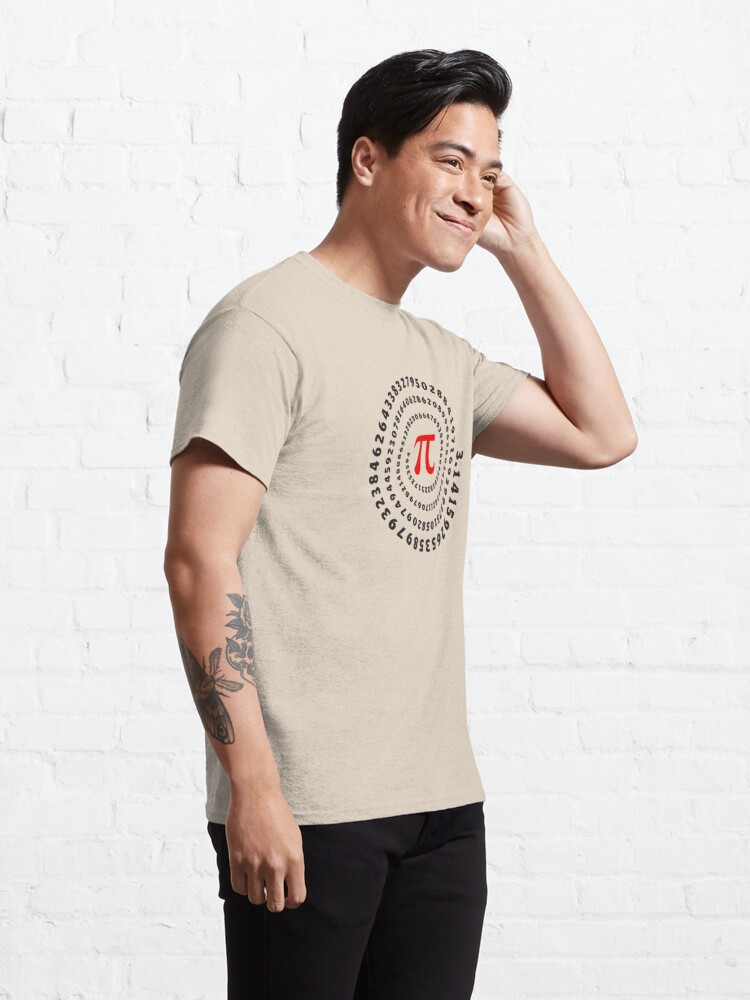 Alternate view of Pi, π, spiral, Science, Mathematics, Math, Irrational Number, Sequence Classic T-Shirt