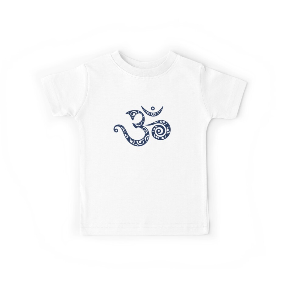 Om Mantra Buddhism Symbol Of Spiritual Strength Kids Tees By