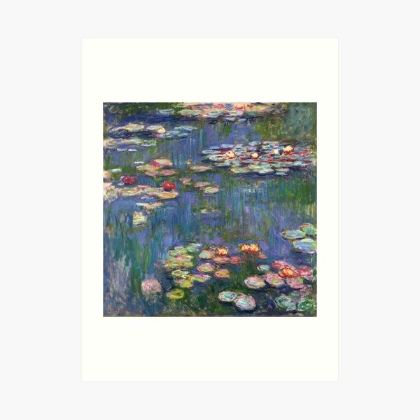 1916-Claude Monet-Waterlilies-200 x 200 Art Print