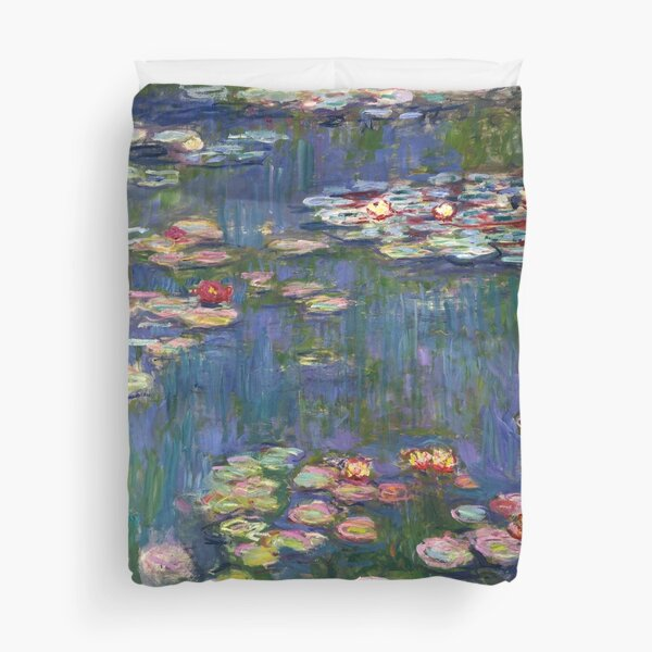 1916-Claude Monet-Waterlilies-200 x 200 Duvet Cover