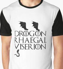 Drogon, Viserion and Rhaegal Graphic T-Shirt