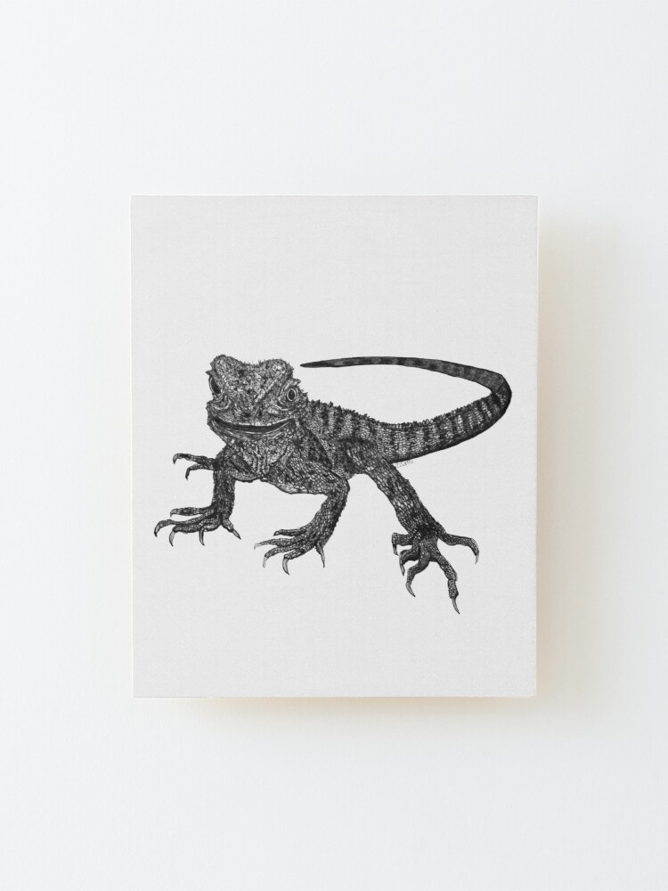 Alternate view of Kenneth the Water Dragon Mounted Print