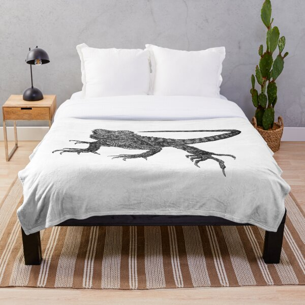 Kenneth the Water Dragon Throw Blanket