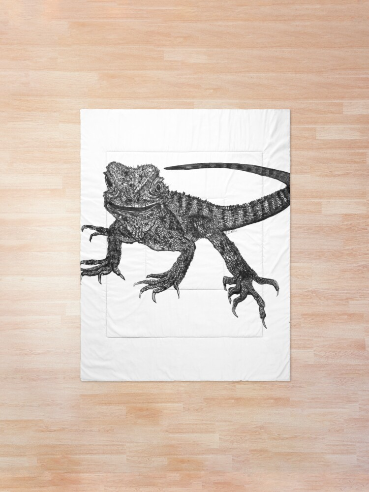 Alternate view of Kenneth the Water Dragon Comforter