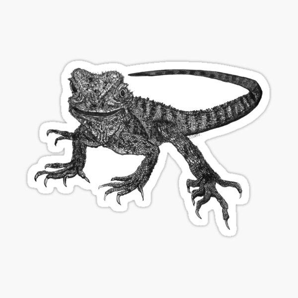 Kenneth the Water Dragon Sticker
