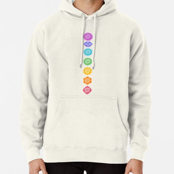 7 Chakras - Cosmic Energy Centers Pullover Hoodie