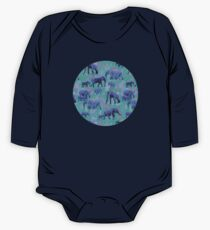 Sweet Elephants in Bright Teal, Pink and Purple Kids Clothes