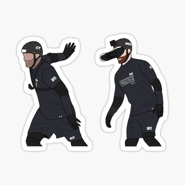 CT and Wes MTV Sticker