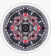 bike kaleidoscope in the round  Sticker