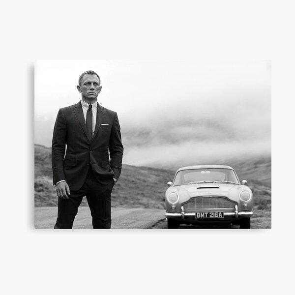 Daniel Craig, Black and White, Vintage Art Canvas Print