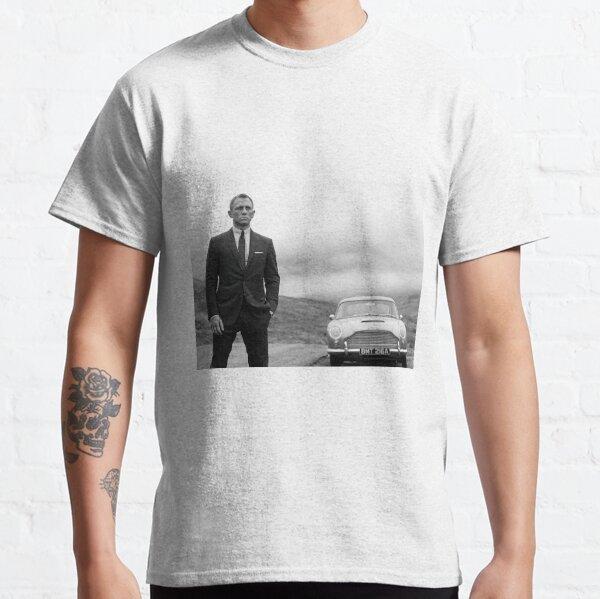 Daniel Craig, Black and White, Vintage Art Classic T-Shirt