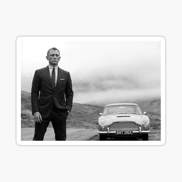 Daniel Craig, noir et blanc, art vintage Sticker