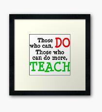 Teachers Framed Print