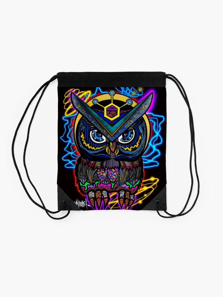 Alternate view of Digital OWL- Smart Digital Payments Drawstring Bag