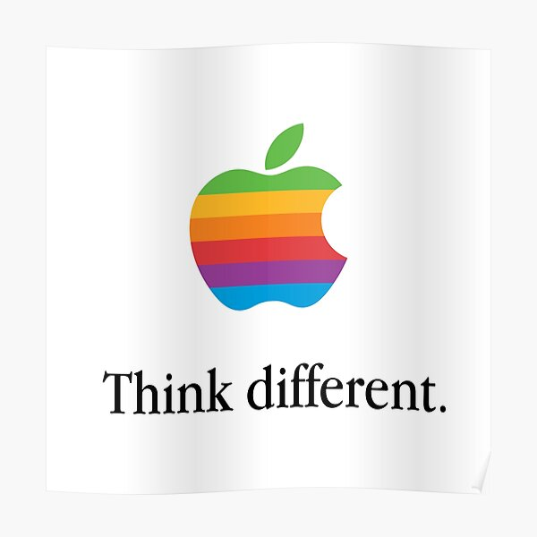 Retro Apple. Think different. Poster