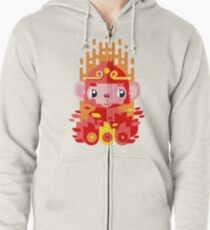 Fire Monkey Year Zipped Hoodie