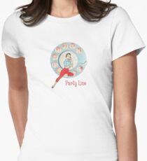 Retro Phone Woman Womens Fitted T-Shirt