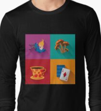 Alice pop art design Long Sleeve T-Shirt