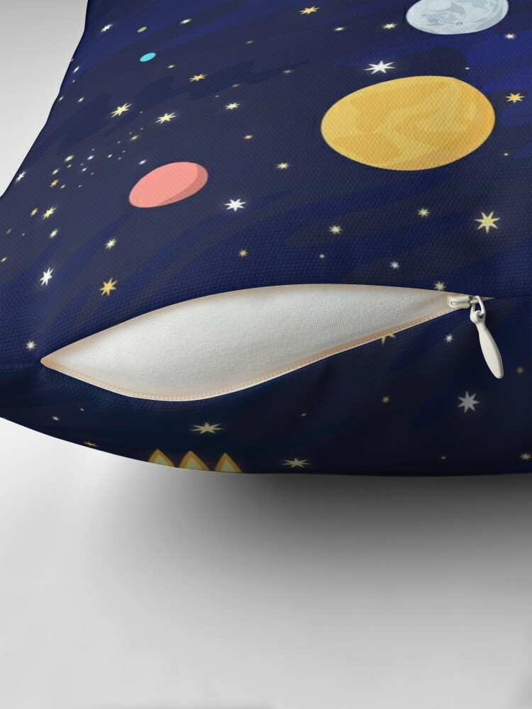 Alternate view of In space Throw Pillow