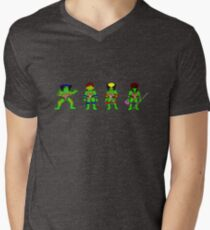 Mutant Teenage Ninja Turtles Mens V-Neck T-Shirt
