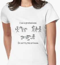 Large Animal Veterinarian Professional -- Horse Shot  Women's Fitted T-Shirt
