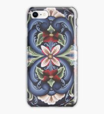 Scandinavian Viking Rose Folk Art Flower Power Red White Blue Kirsten iPhone Case/Skin
