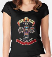 PUGS N' ROSES : APPETITE FOR EVERYTHING Women's Fitted Scoop T-Shirt
