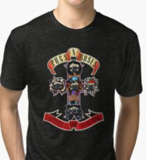 PUGS N' ROSES : APPETITE FOR EVERYTHING Tri-blend T-Shirt