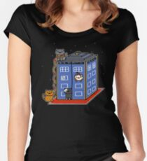 Who Atsume Women's Fitted Scoop T-Shirt