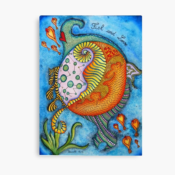 fish and love Canvas Print