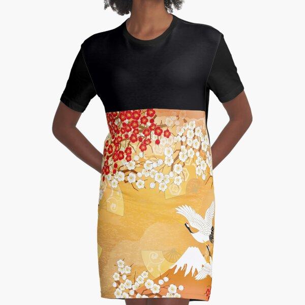 Beautiful kimono of Japan Graphic T-Shirt Dress