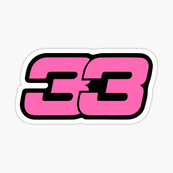 Max Verstappen Formula 1 Number Sticker