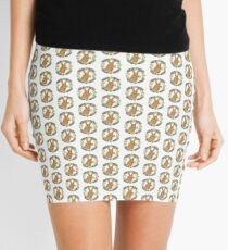 Bunny with Carrot and Flowers Mini Skirt