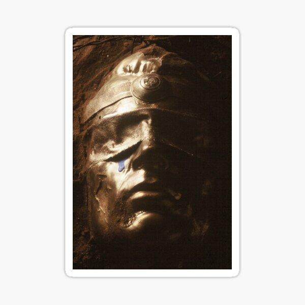 Mask in the dark (mixed media) Sticker