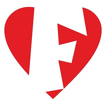 I love F - Heart F - Heart with letter F by theshirtshops