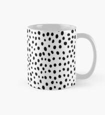 Modern Black and White Hand Drawn Polka Dots Mug