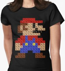 Periodic table t shirts redbubble periodic mario table womens fitted t shirt urtaz Images