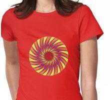 Geometric Grafic Color Cirkle Sun Womens Fitted T-Shirt